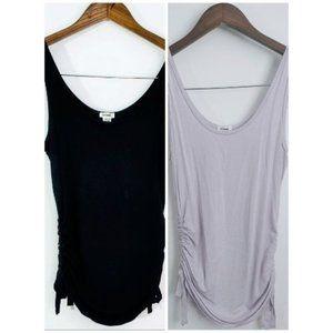 💰3/20$💰GARAGE black & lilac drawstring tank top